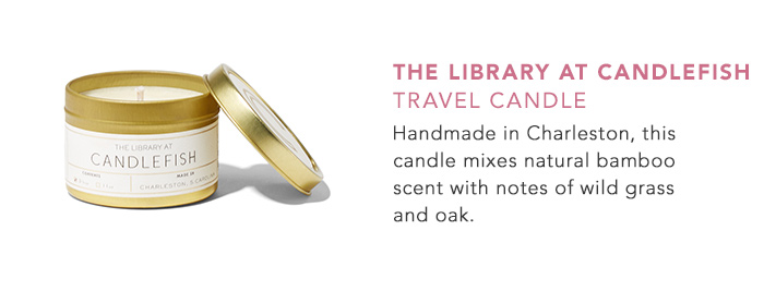 The Library at Candlefish Travel Candle