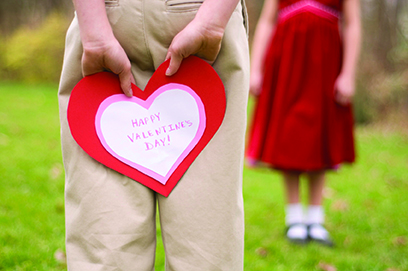 Child-With-Valentine-Behind-His-Back
