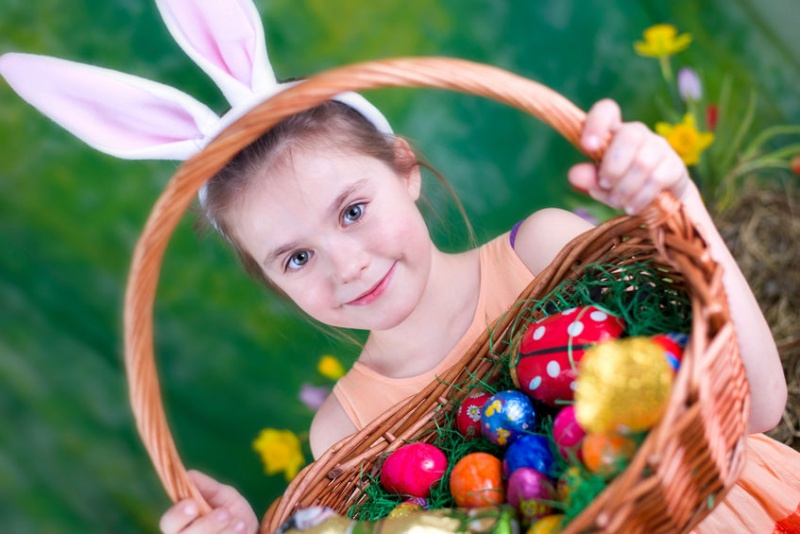 Girl-With-Easter-Basket