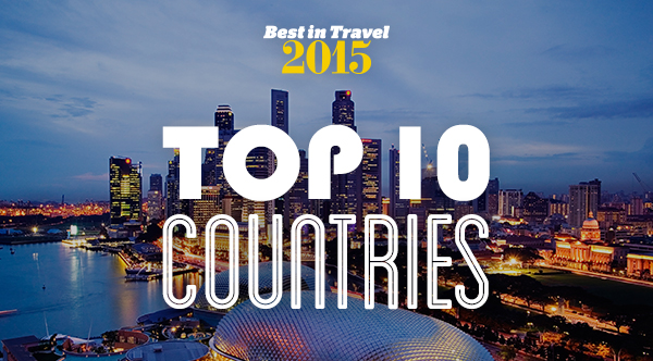 What are Lonely Planet's top 10 countries for 2015?