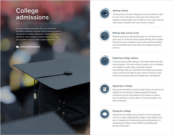 Check out College Admissions resources!
