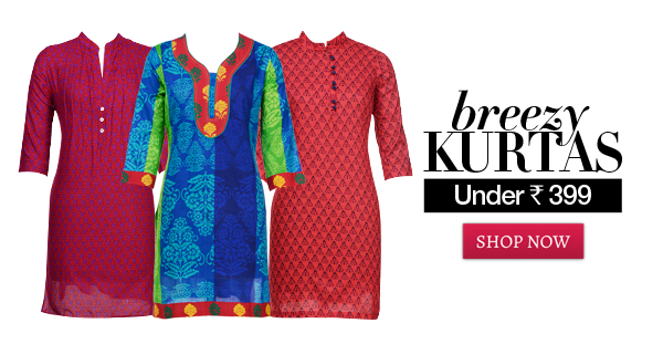 breezy kurta under rs 399