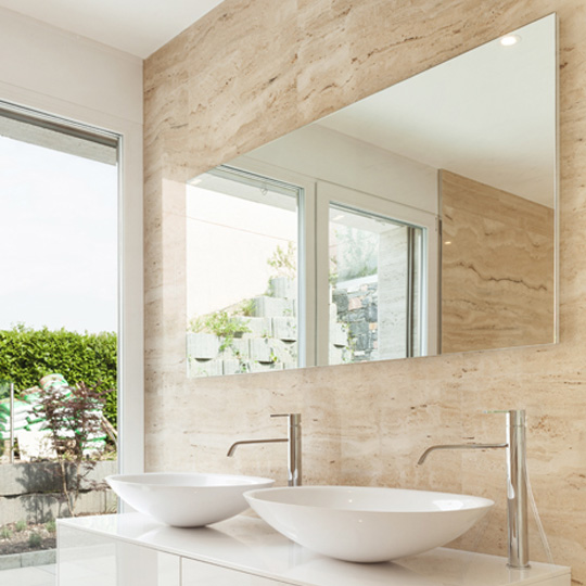 Bathroom mirrors next