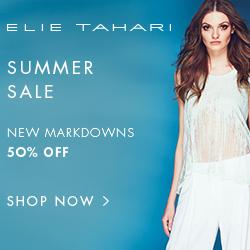 Elie Tahari Summer Sale: 50% off all sale items