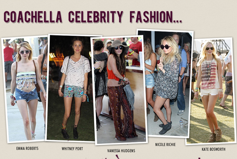 Coachella Celebrity Fashion