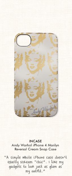 incase Andy Warhol iPhone 4 Marilyn Reversal Cream Snap Case in Cream