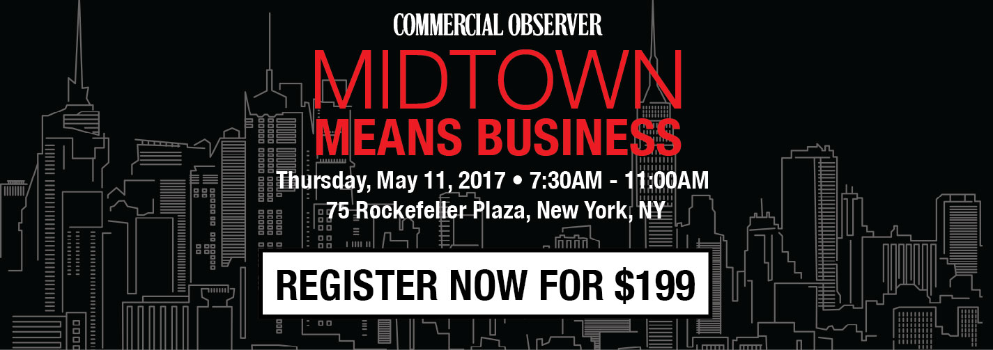 Commercial Observer | The Future of Retail | Tuesday, May 11, 2017 | 7:45AM-11:00AM | 75 Rockefeller Plaza, NY NY | Register Now for $199