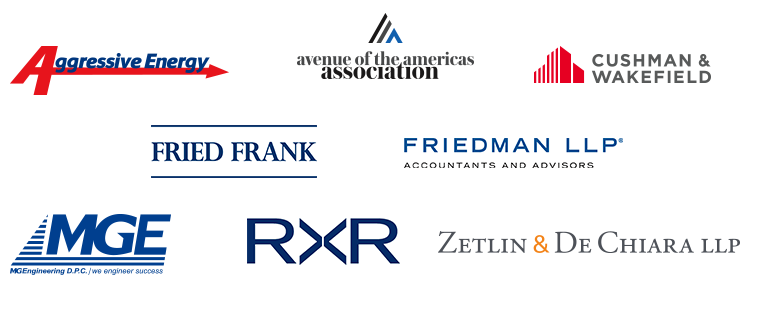 Aggressive Energy | The Avenue of the Americas Association | Cushman and Wakefield | Fried Frank | Friedman LLP | MG Engineering | RXR Realty | Zetlin & DeChiara LLP