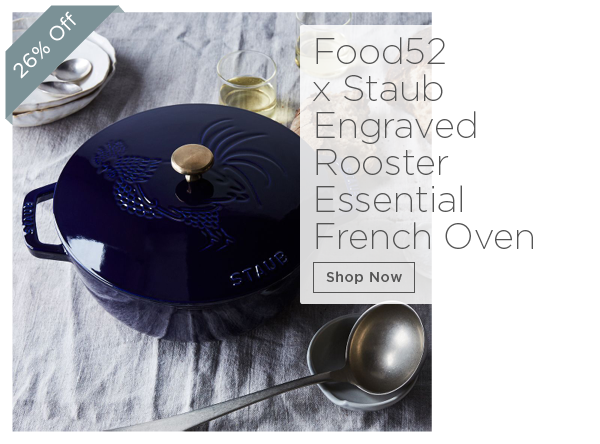 Food52 x Staub Engraved Rooster Essential French Oven