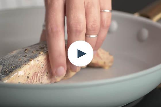 Buffalo-Glazed Salmon with Blue Cheese Kale Salad