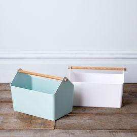 Wood-Handled Storage Box