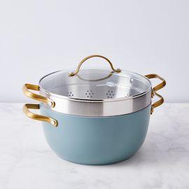 Food52 x GreenPan Nonstick Stock Pot with Steamer Insert
