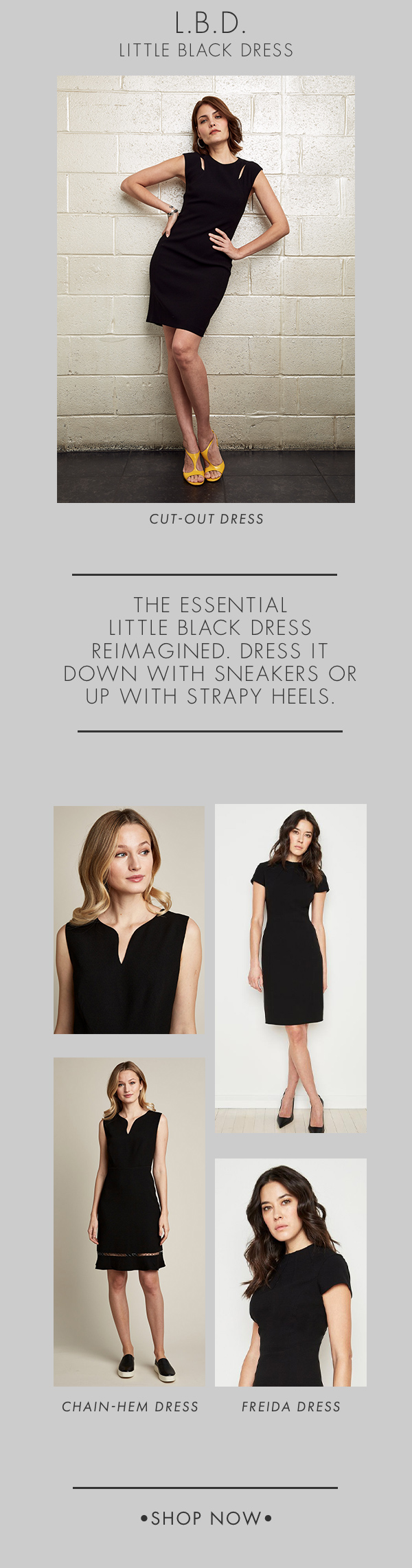 Little Black Dress - Dress It Down With Sneakers or Up with Strapy Heels