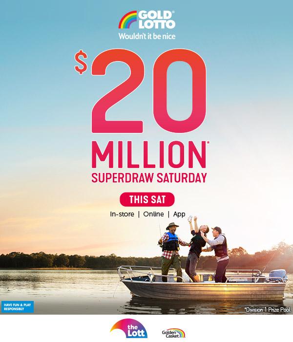 Lotto 20 Million Saturday