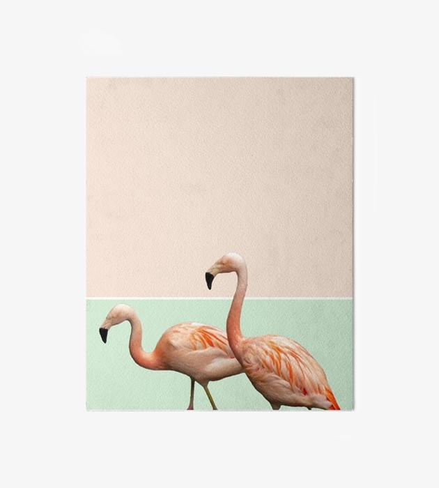 Flamingo Pastel Art