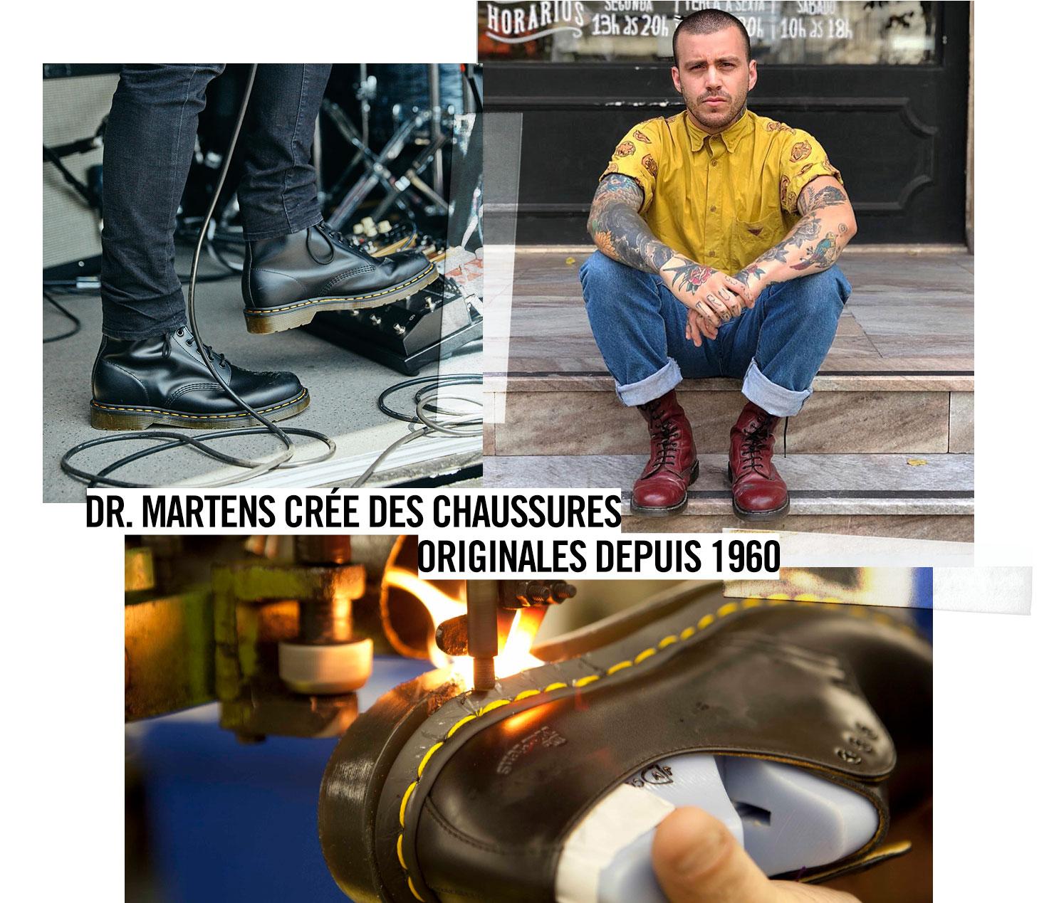DR. MARTENS CRÉE DES CHAUSSURES ORIGINALES DEPUIS 1960.