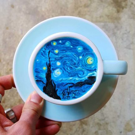 How a Korean Barista Is Turning Lattes Into Frothy Versions of Art History's Greatest Masterpieces