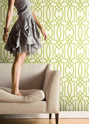 lime green lattice wallpaper careylind WT4605