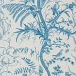 Brunschwig & Fils BIRD AND THISTLE BLUE Wallpaper