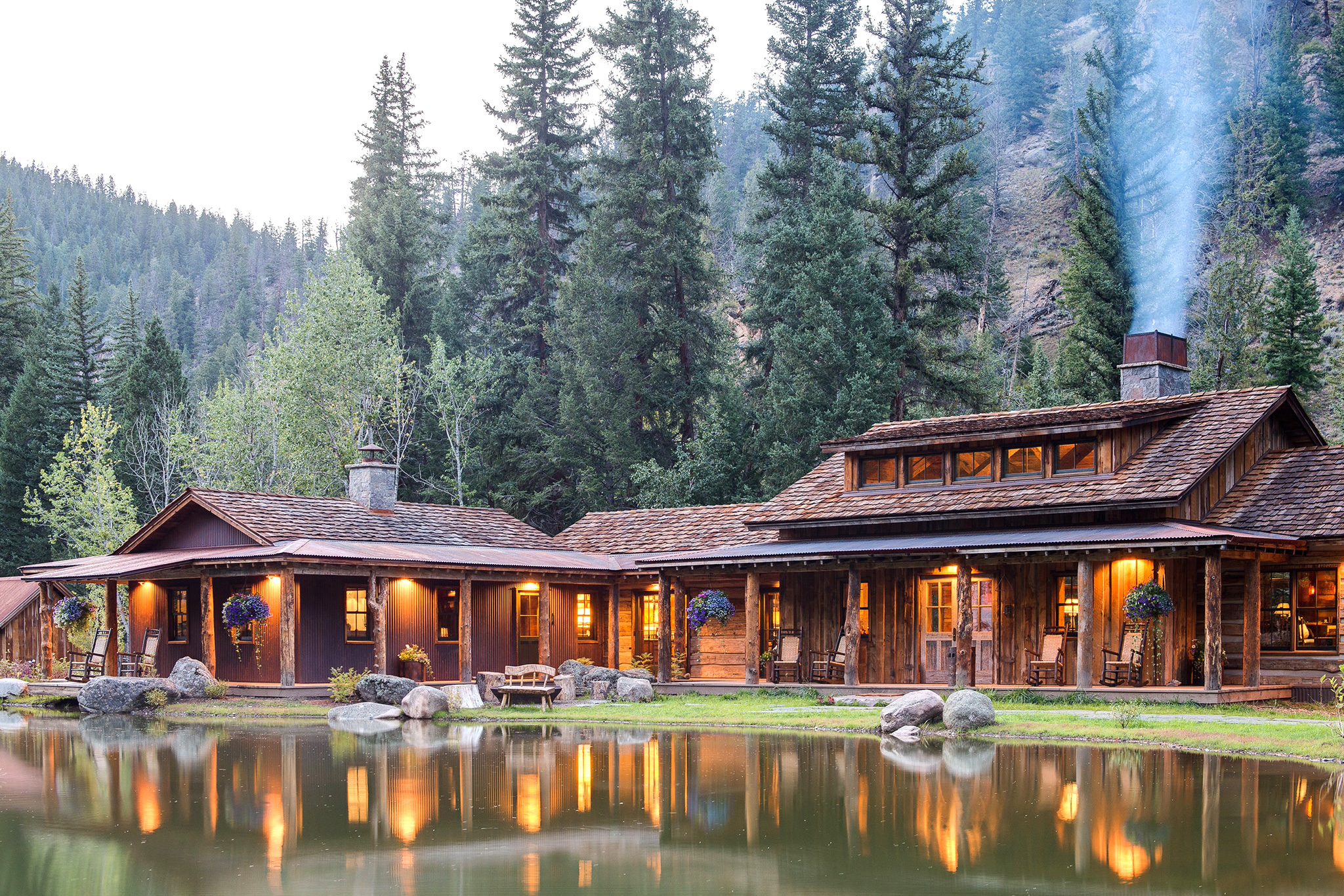 This image may contain Tree, Plant, Building, Fir, Abies, Housing, Resort, and Hotel