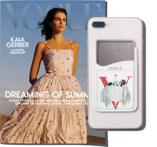 Vogue cover and Phone wallet