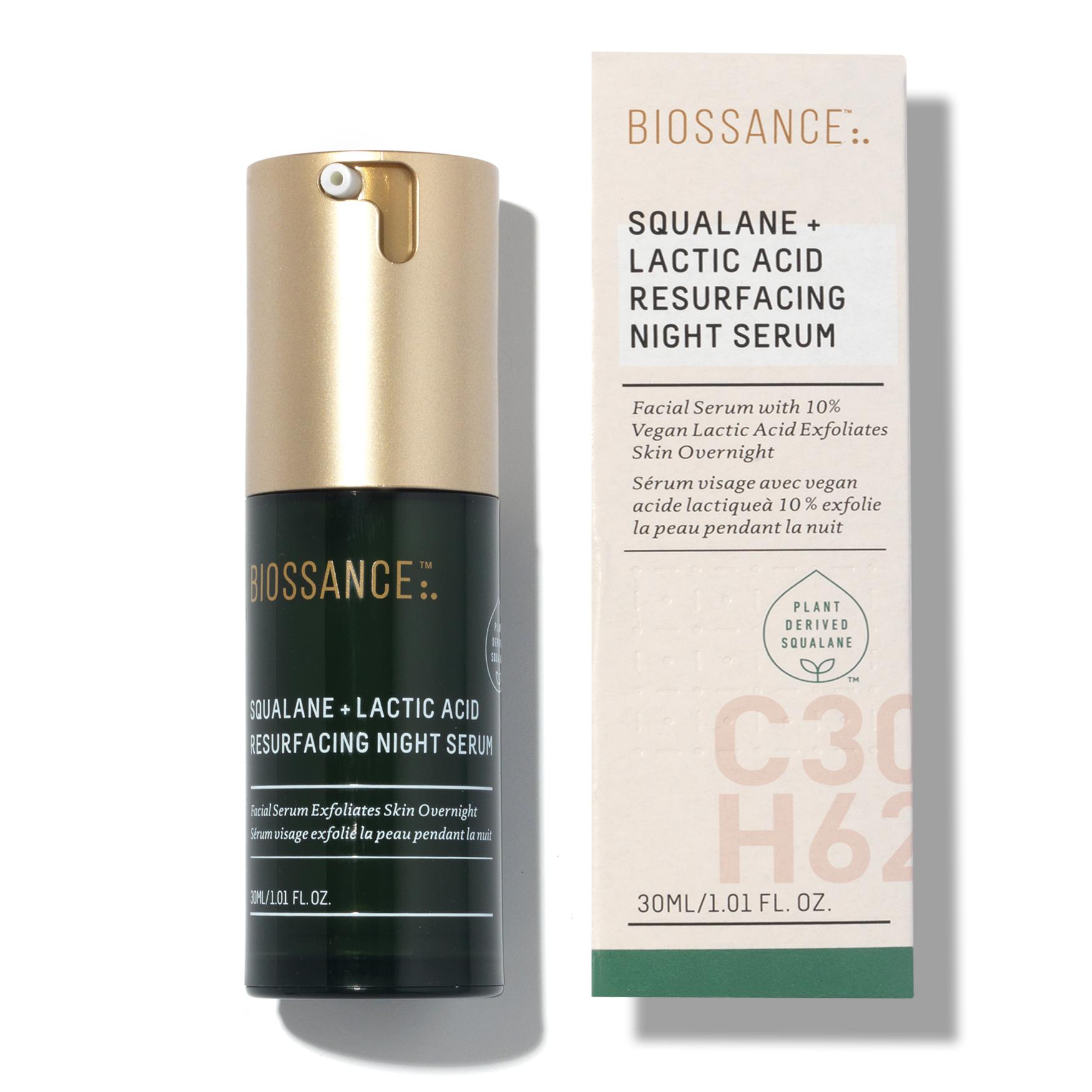 Squalane + Lactic Acid Resurfacing Night Serum