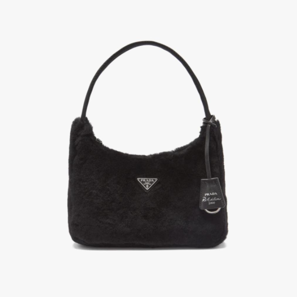 Prada Re-Edition 2000 Shearling Shoulder Bag