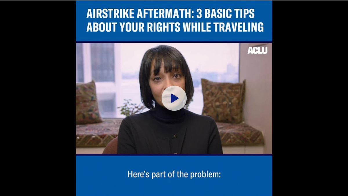 Know Your Rights Facebook Video