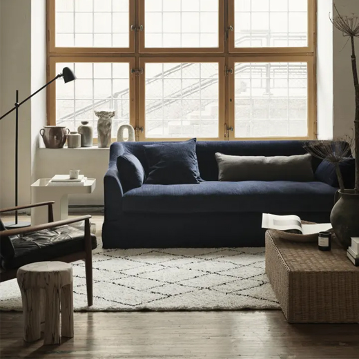 This Line of Affordable Slipcovers Gives Your Standard IKEA Sofa a Fresh New Personality