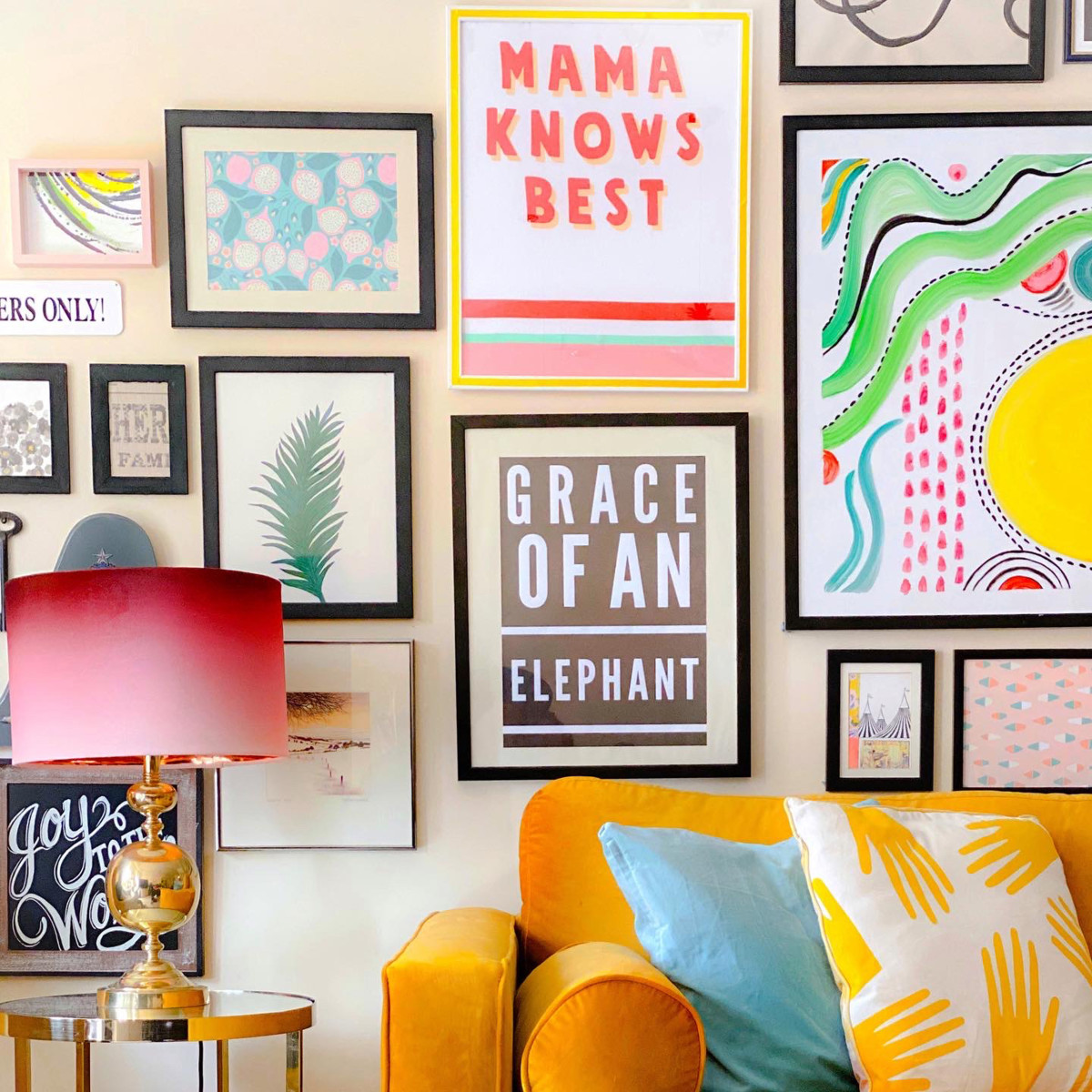 This Home's Absolutely Packed with Colorful and Clever Renter-Friendly Decor Hacks