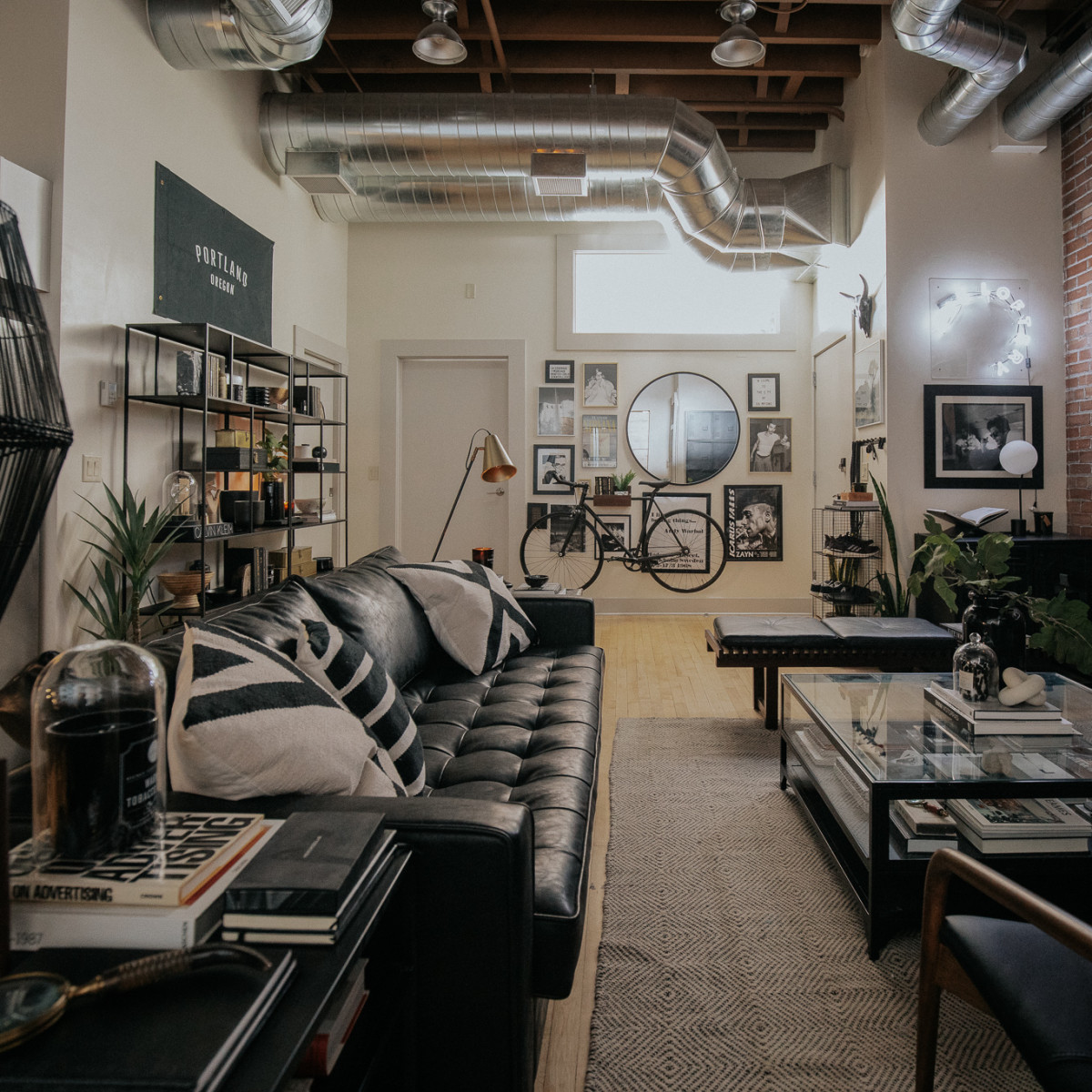 This Maximalist, Modern, Industrial Idaho Loft Has Several Clever, Stylish Plant Display Ideas