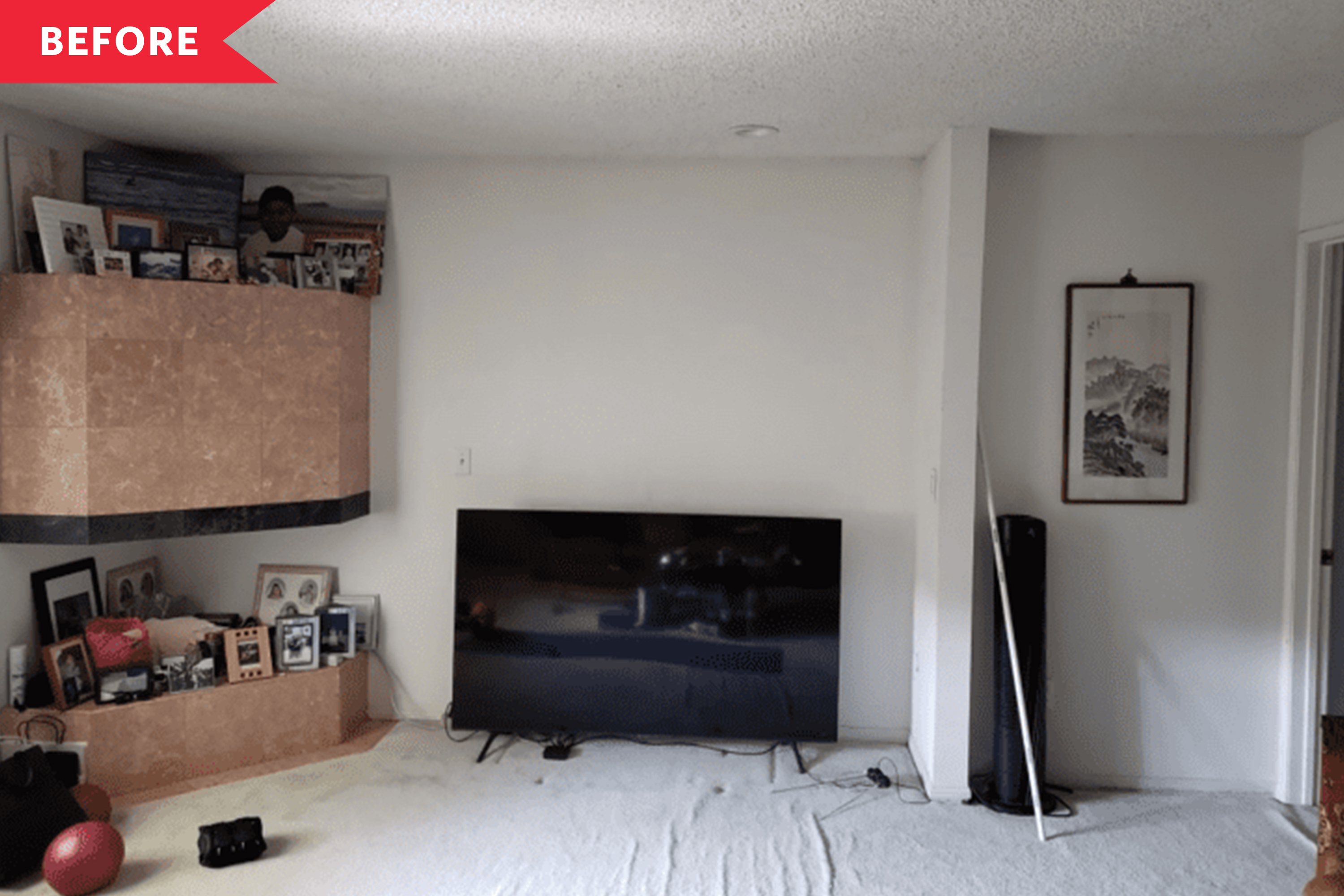 Before and After: A Living Room's Awkward Corner Is Transformed for Under $500