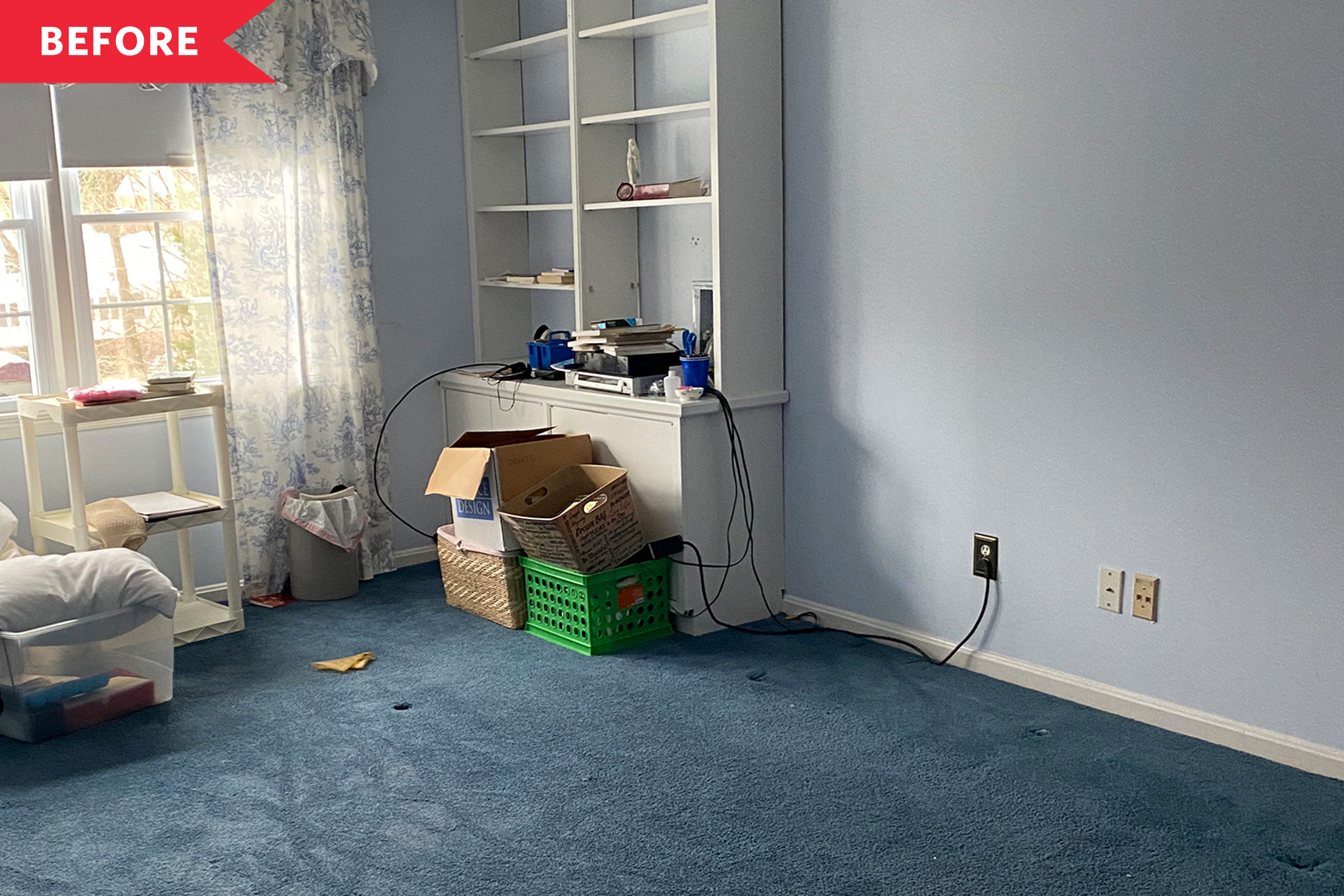 Before and After: A Dated, Carpeted Bedroom Gets a Magical Transformation