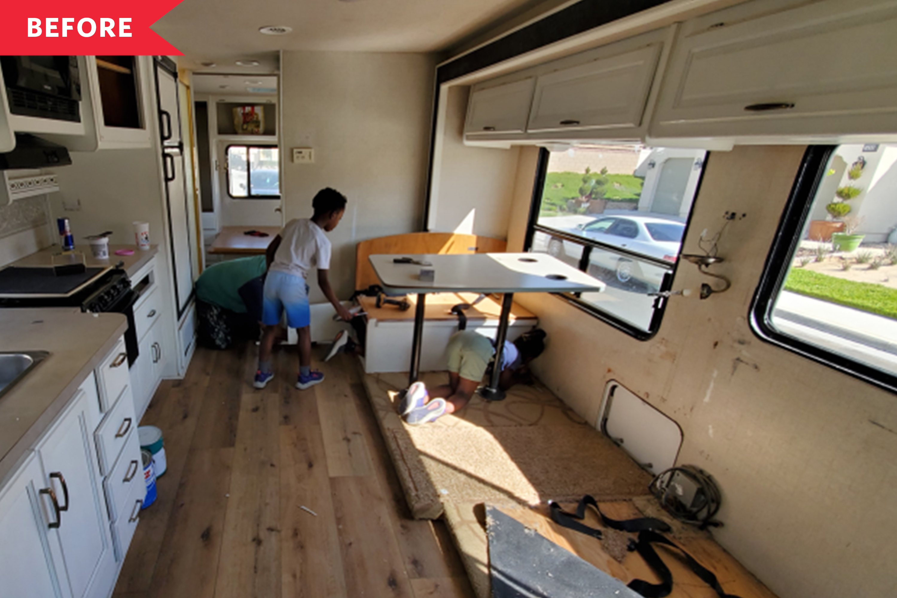 Before and After: This Family Turned a Run-Down RV into a Full-Time Home on Wheels