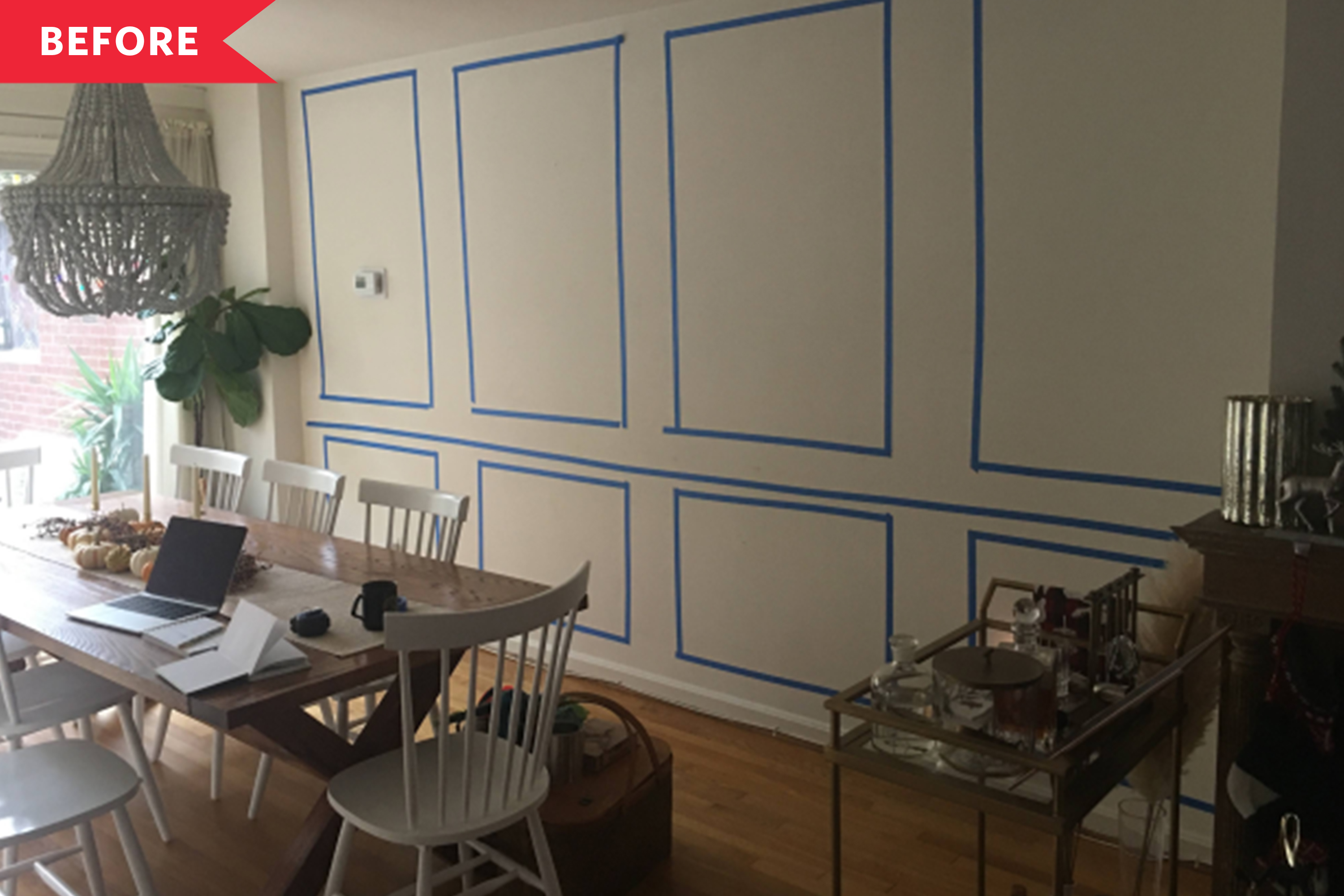 Before and After: A $250 Project Adds Character and Elegance to a Plain Dining Room