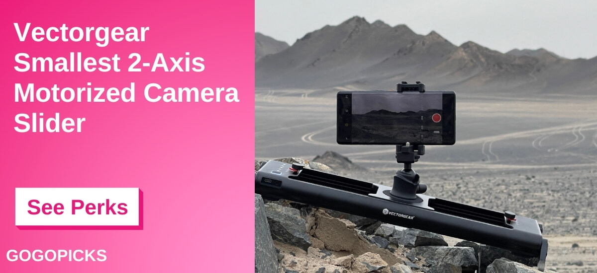 Vectorgear - Smallest Yet Powerful Camera Slider — See Perks