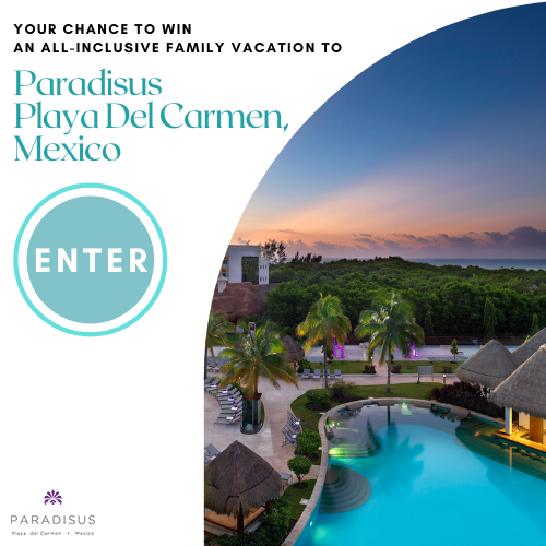 Enter for a chance to win: 3 Nights All-Inclusive Accommodations for a Family of 4 at Paradisus Playa del Carmen Including Food & Beverages and $750 towards travel   (Trip Valid til June 2022)