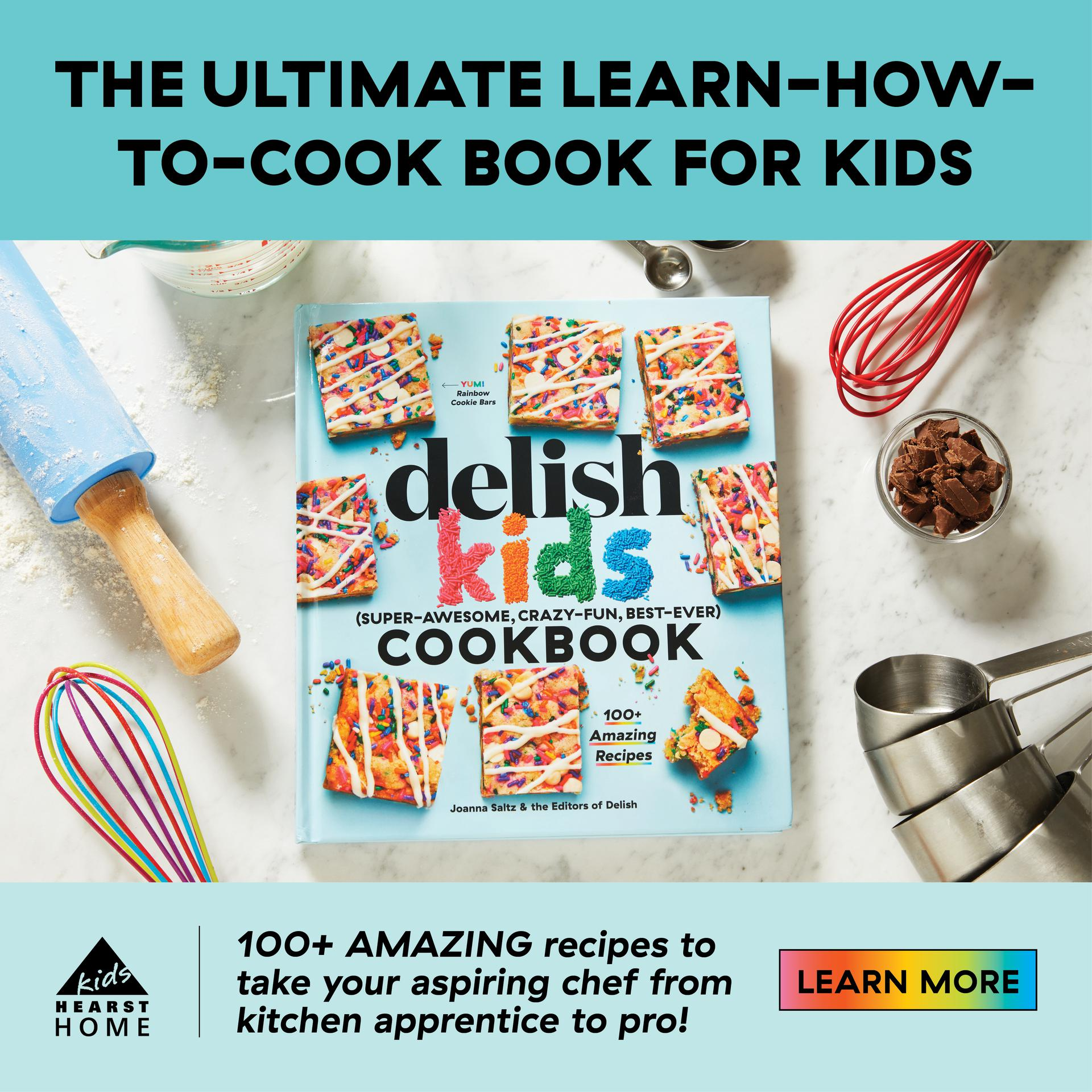 Anyone can be a great cook! Filled with more than 100 easy-to-follow recipes, the Delish Kids Cookbook will make cooking so much fun for young chefs.