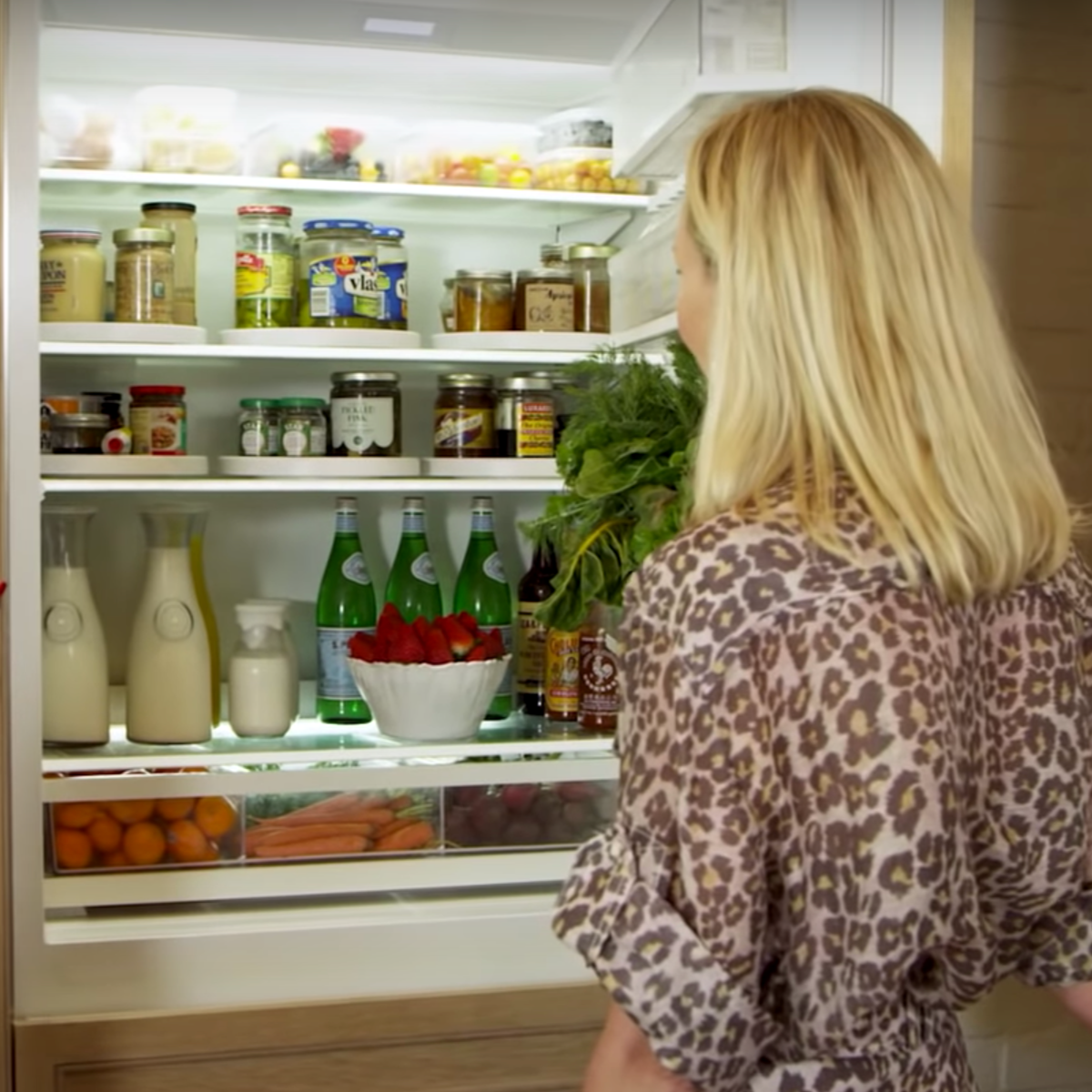 The Secret to an Organized Fridge Is  Actually a Lazy Susan