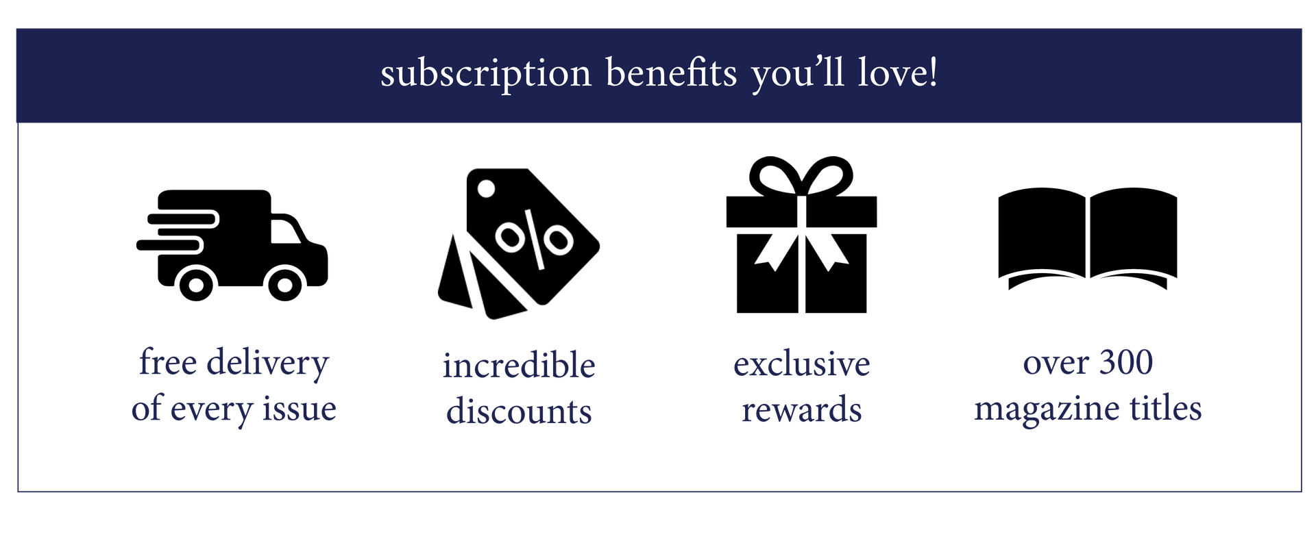 subscription benefits
