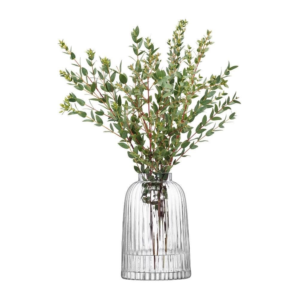 Clear Pleat Vase 20cm Amara