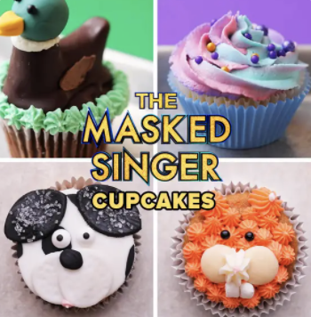 Masked Singer Viewing Party Cupcakes
