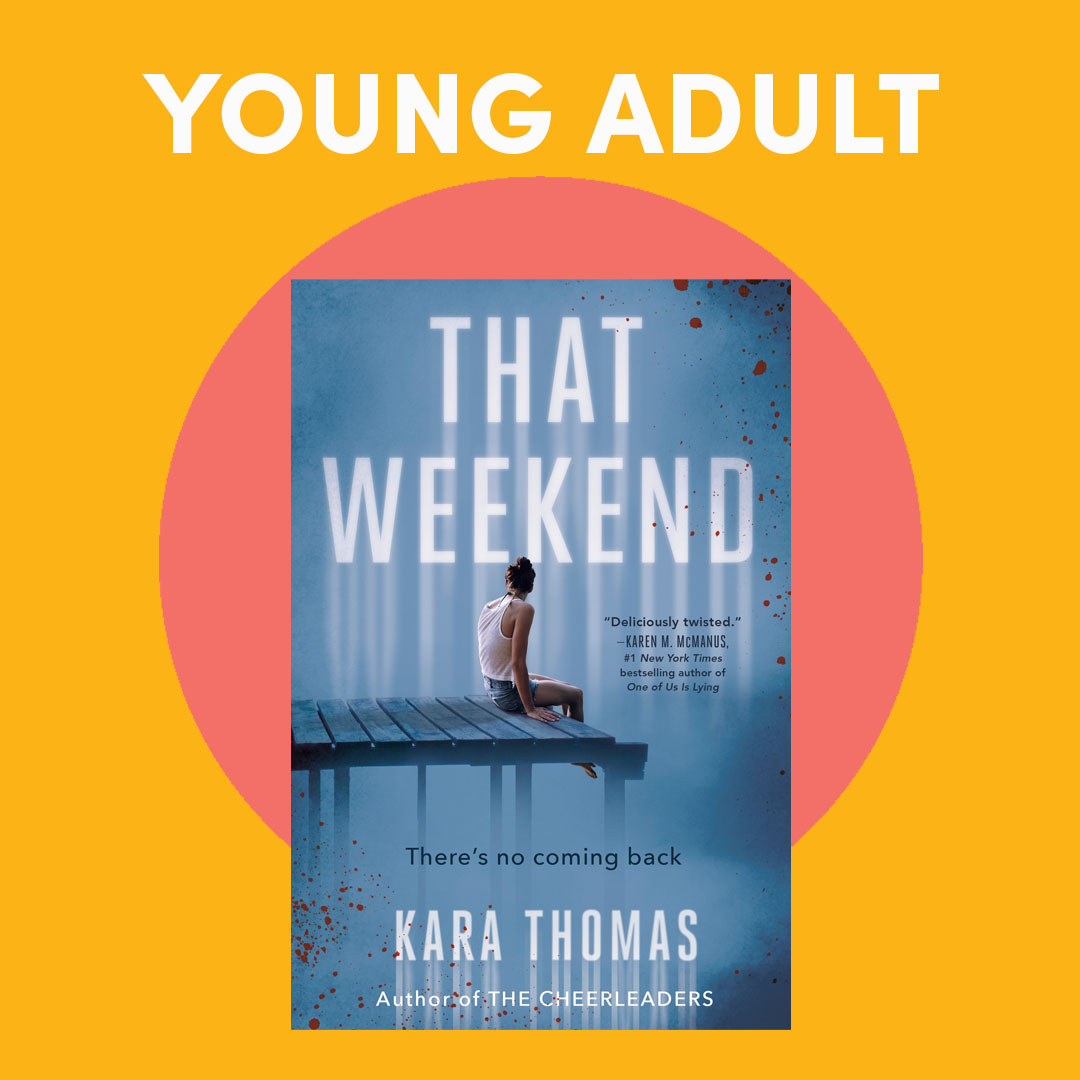 Illustrated graphic with book covers, text reads ''Young Adult''