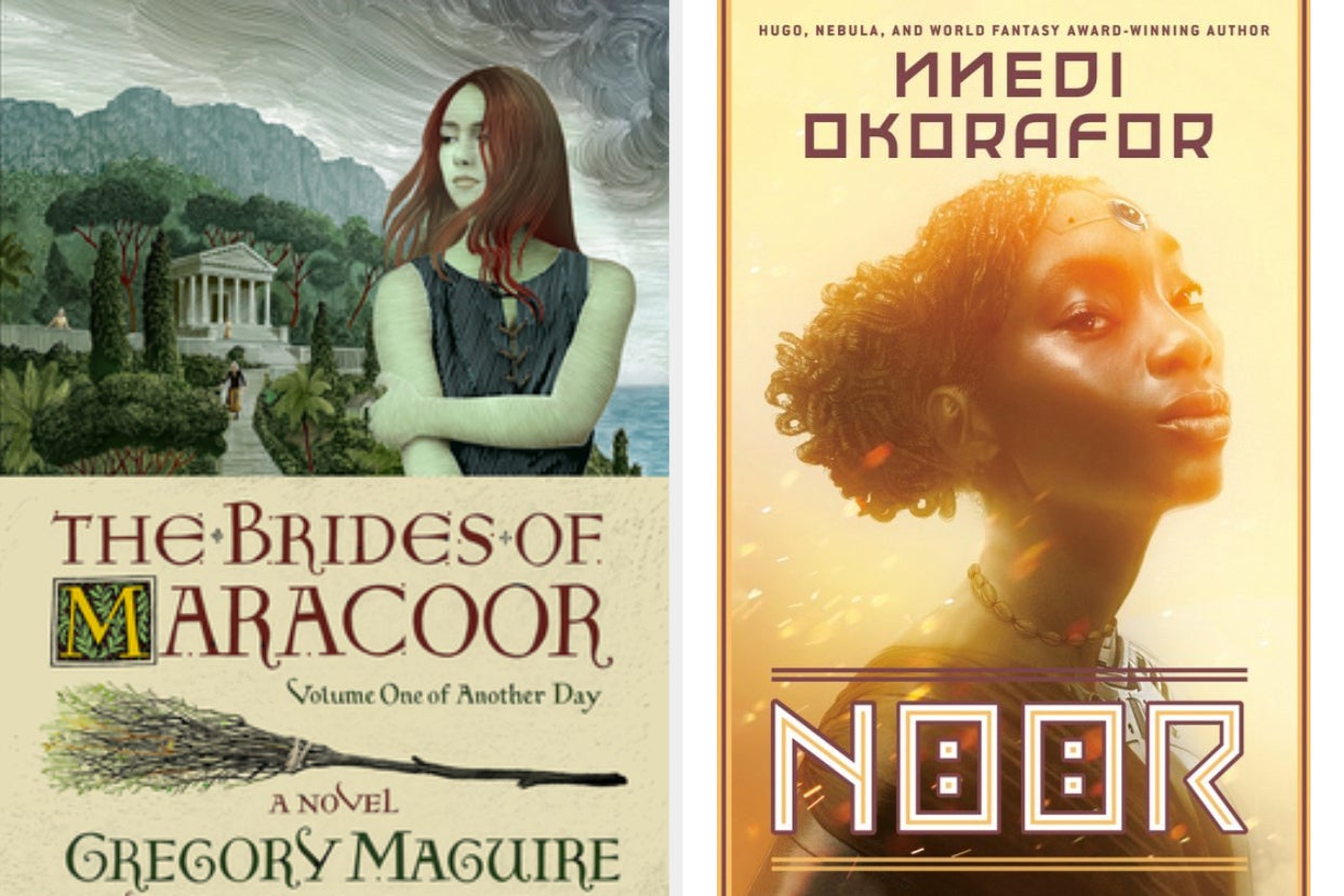 cover of ''the brides of maracoor'' next to the cover of ''noor''