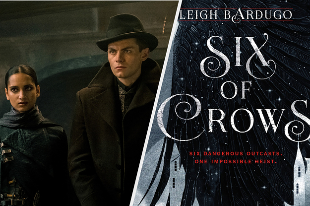 On left: screengrab from ''Shadow and Bone''; on right: ''Six of Crows'' book cover