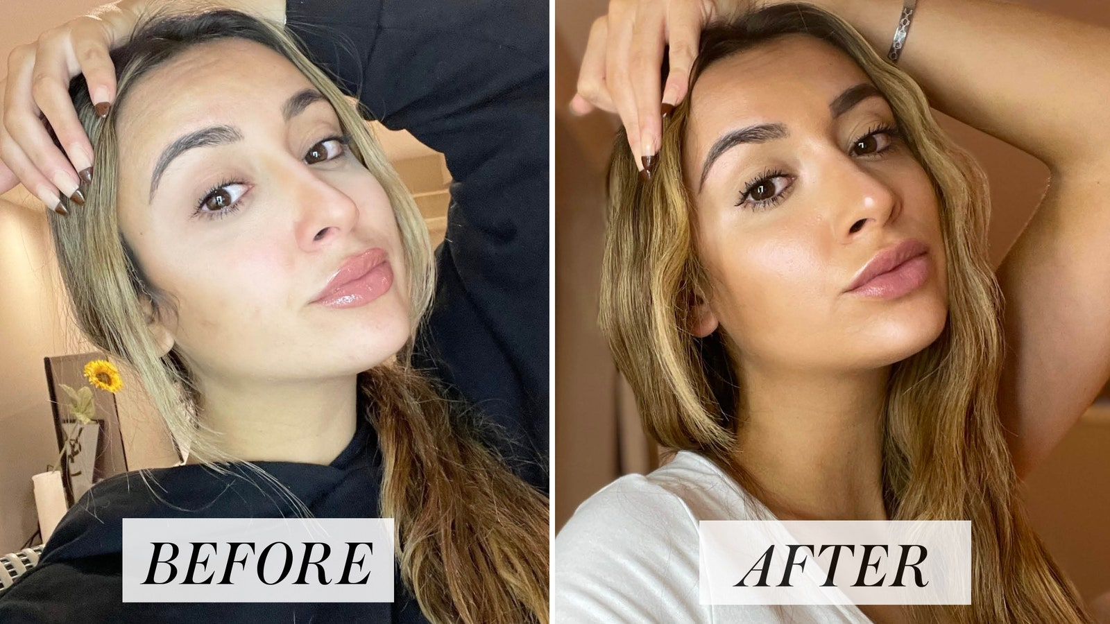 before and after self tanner