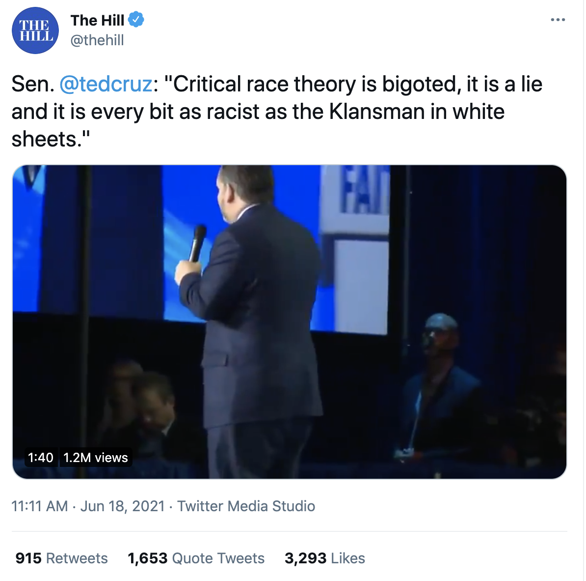 The Hill Twitter Page