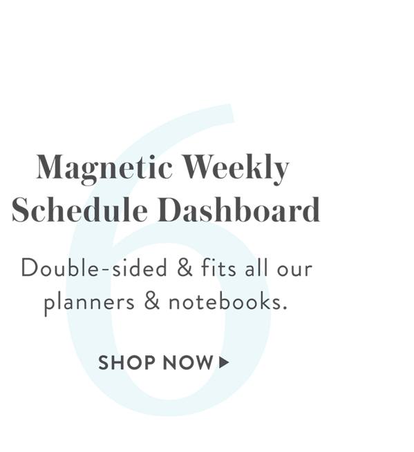 6: Magnetic Weekly Schedule Dashboard