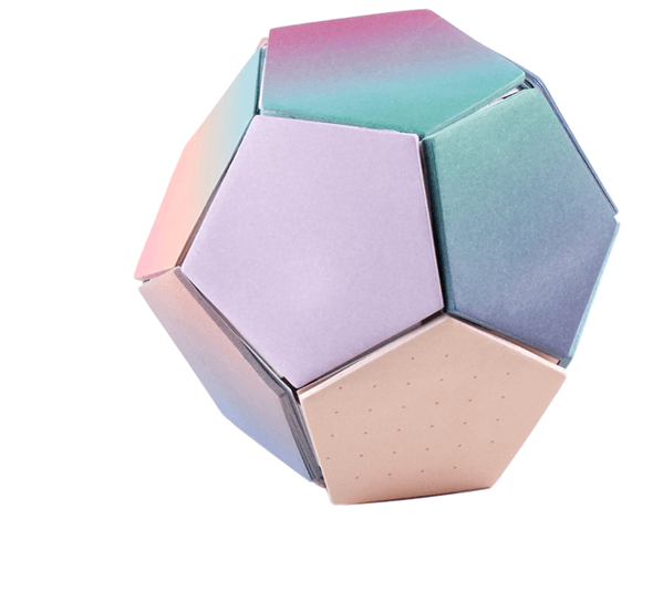 2: Colorful Sticky Note Ball, SHOP >