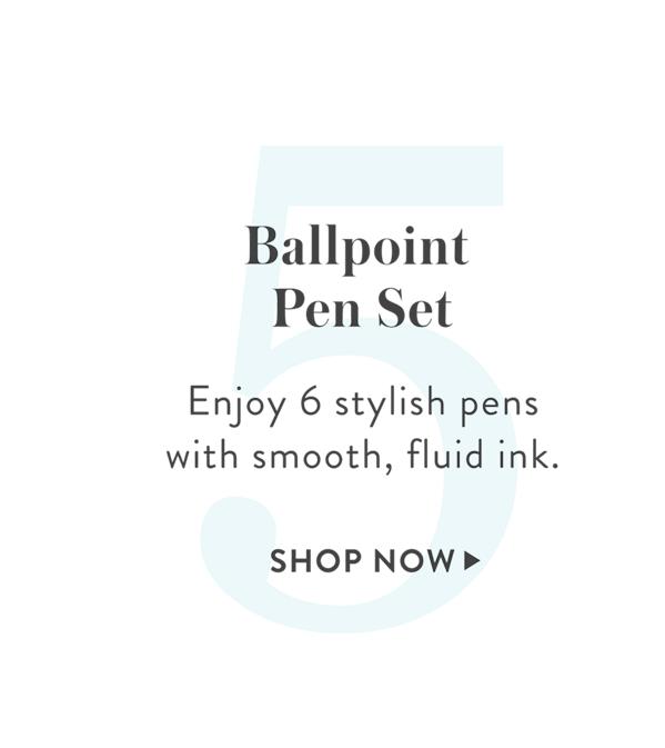 5: Ballpoint Pen Set 6-Pack, SHOP >